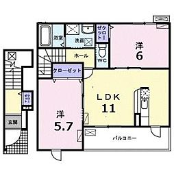 プラシードパラッツォ[2階]の間取り
