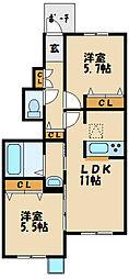 フォレスト884[1階]の間取り