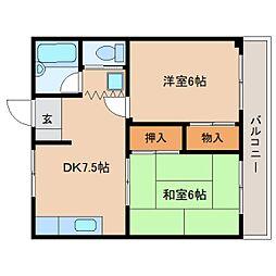 静岡県静岡市葵区南瀬名町の賃貸マンションの間取り