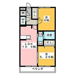 D'room京命[2階]の間取り