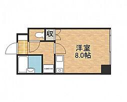 バス 早稲田団地郵便局前下車 徒歩1分の賃貸マンション 3階ワンルームの間取り