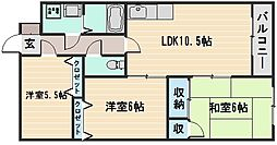 ファミリー香川[3階]の間取り