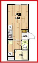 東京都足立区梅田7丁目の賃貸アパートの間取り
