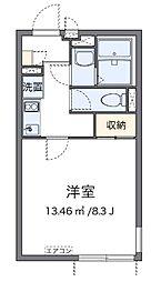 相鉄本線 三ツ境駅 徒歩20分の賃貸アパート 1階1Kの間取り