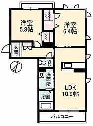ドリーム24[3階]の間取り