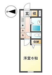 メゾンドアルザス 3b[2階]の間取り