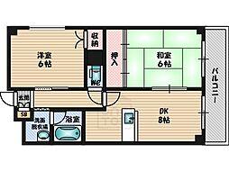 サン春日第2マンション[1階]の間取り