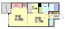 福岡県福岡市博多区金の隈1丁目の賃貸マンションの間取り