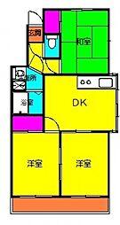 藤の宮桜井マンション東[201号室号室]の間取り