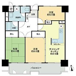 ライオンズマンション高松上福岡[5階]の間取り
