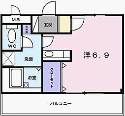 兵庫県姫路市三左衛門堀東の町の賃貸アパートの間取り