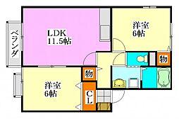 千葉県船橋市二和東3丁目の賃貸アパートの間取り