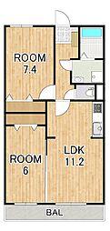(仮称)シャロルIII上鈎マンション 3階2LDKの間取り