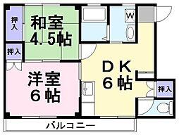 ドルチェヴィータ[2階]の間取り