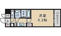 プレサンスOSAKA DOMECITYワンダー[9階]の間取り