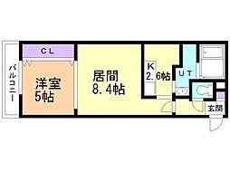 bills 桔梗~KIKYO 4階1LDKの間取り