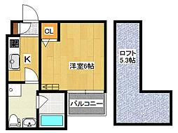 ソラーナ新今里[2階]の間取り