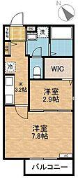 東急東横線 綱島駅 徒歩15分の賃貸アパート 1階2Kの間取り