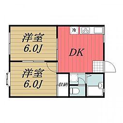 千葉県香取市佐原イの賃貸アパートの間取り