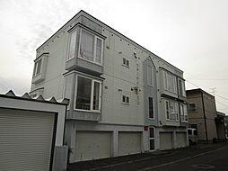 北海道札幌市北区篠路二条8丁目の賃貸アパートの外観
