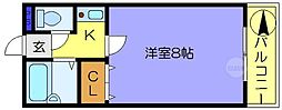 サンライフ長田[4階]の間取り