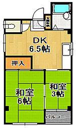 浜村マンション[3階]の間取り