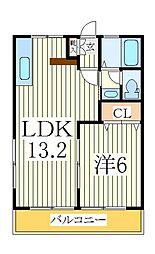 天王台kaoru[2階]の間取り