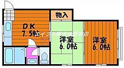 山陽ビル[3階]の間取り