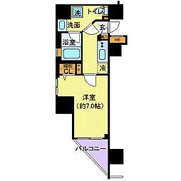 フェルクルール上野駅前(フェルクルールウエノエキマエ)[6階]の間取り