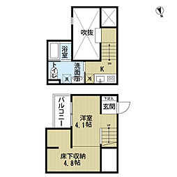 愛知県名古屋市天白区相川2丁目の賃貸アパートの間取り