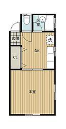 サンコーポヤマブン[101号室]の間取り