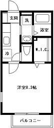 ブラン ラトゥール 1[201号室号室]の間取り