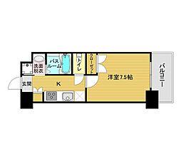 ORIENT BLD No.122(1K Aタイプ 中部屋) 14階1Kの間取り
