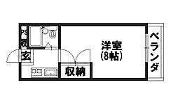 ラ・フィーヌ永田[205号室]の間取り