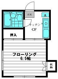オーク酒井[2階]の間取り