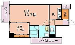 ザ・クロスメント[8階]の間取り
