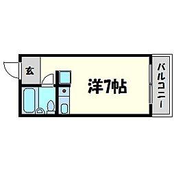 兵庫県尼崎市道意町1丁目の賃貸マンションの間取り