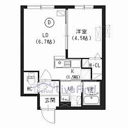 札幌市営東西線 南郷18丁目駅 徒歩7分の賃貸マンション 3階1LDKの間取り