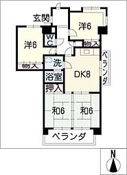 第2翠芳ビル[5階]の間取り