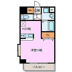 ロータリーM長田東[605号室]の間取り