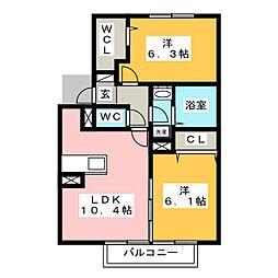 ソシア宮島 II[2階]の間取り