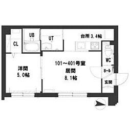 仮)グランメール南8西12[2階]の間取り