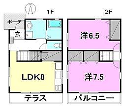 [一戸建] 愛媛県松山市土居田町 の賃貸【/】の間取り