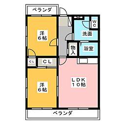 Le Soleil 北館・南館[2階]の間取り
