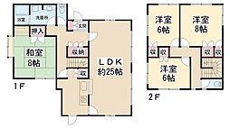 [一戸建] 兵庫県川西市鴬が丘 の賃貸【/】の間取り