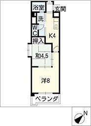 新日豊明マンション[7階]の間取り