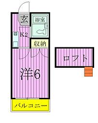 ジュネパレス松戸第177[2階]の間取り