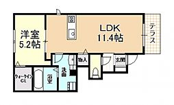 D-roomみのり(新築)[102号室号室]の間取り