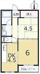 六角シティハイツ[205号室号室]の間取り