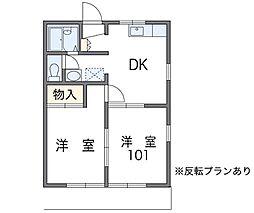 東京都小金井市桜町1丁目の賃貸アパートの間取り